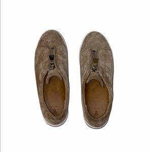 Frye Designer Lena Tan Zip Low Shoes Sneakers Sz 9